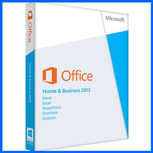 MICROSOFT OFFICE HOME AND BUSINESS 2013 SUITE  SEALED  3 PC  DVD