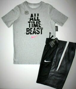 NWT ~BOY'S NIKE SHORTS & T-SHIRT...YOUTH LARGE 14-16...DRI-FIT...STAYS COOLDRY~