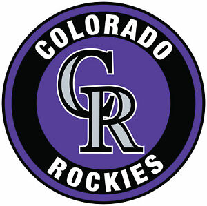 Colorado Rockies Circle Logo Vinyl Decal  Sticker 5 sizes!!