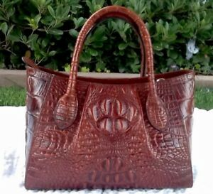 PIFUREN DESIGNER CROCODILE TOP HANDLE HANDBAG