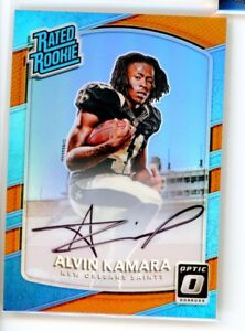 Alvin Kamara 2017 Donruss Optic BRONZE Holo Rated Rookie Prizm Refractor RC Auto