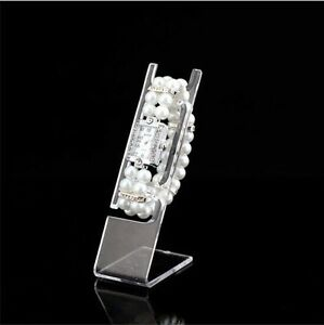 50PCS Clear Plastic Watch Bracelet Jewelry Display Stand Holder Rack General