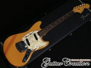 Fender Mustang 1969 Competition Orange Matching Head B-neck With Hard Case