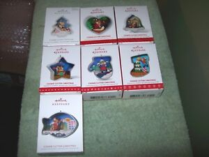 2018 thru 2012 Hallmark Lot  Cookie Cutter Christmas Set  #1 #2 #3 #4 #5 #6 #7