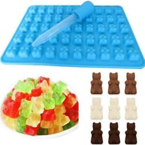 50 Cavity Silicone Gummy Bear Chocolate Mold Candy Maker Ice Tray Jelly Mould WT