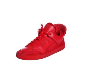 LOUIS VUITTON DON x KANYE WEST Red October Yeezy Leather Sneakers LV 10 Mens 11