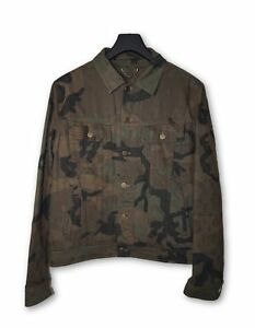 Louis Vuitton Supreme LV Monogram Denim Trucker Jacket Camo 50