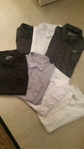 x7 Clothing Lot Nike Golf Dri-Fit Polo Shirt XS Black Grey