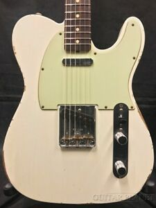 Fender Custom Shop 1963 Telecaster Relic Olympic White 2015 With Hard Case