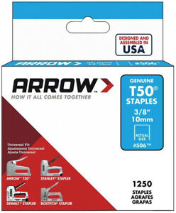 Heavy Duty Staples 38 Inch Medium Crown 18 Gauge Home DIY Projects 1250 Count