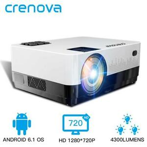 CRENOVA 2019 Newest Led Projector HD 1280*728P Android 6.1 OS 4300 Lumens Home T