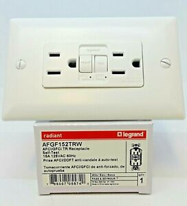 Pass Seymour AFGF152TRW AFCI GFCI Tamper Resistant Self Test WHITE $24.94