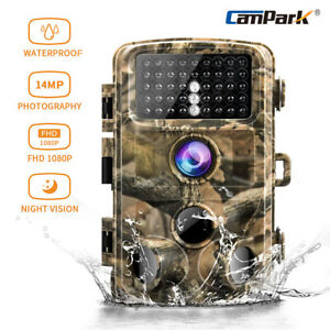 Campark Trail Game Camera 14MP 1080P FHD Waterproof IR Hunting Scouting Wildlife