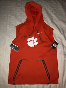 Clemson University Tigers Nike Sideline Sleeveless Therma-FIT Pullover Hoodie