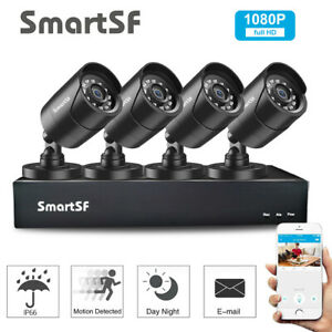 SmartSF 1080P 4CH AHD DVR CCTV 2MP Security System Camera IR Night Vision CCTV