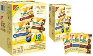 belVita Bites Mini Breakfast Biscuits Variety Pack, 12 Ounce Pack of 1