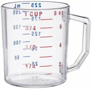 Cambro Camwear Polycarbonate Measuring Cup Clear 1 Cup 1 Each $19.02
