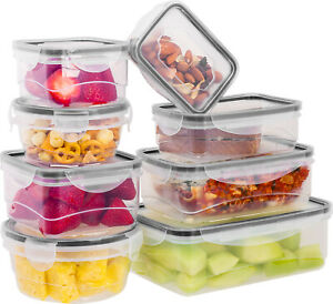 16 Pcs Plastic Food Storage Containers Set With Air Tight Locking Lids $19.99