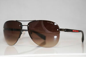 PRADA Mens Designer Sunglasses Brown Aviator SPS 56M 5AV-6S1 15104