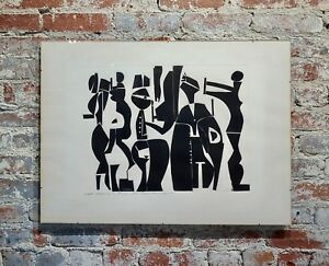 Edgar Ewing -Greek Wedding in Rome 1969-Modernist Cubist painting