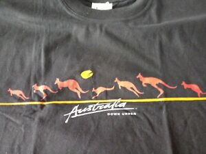 Australia Down Under Mens Tshirt XL Kangaroo Outback Syndey Perth Melbourne EUC $13.99