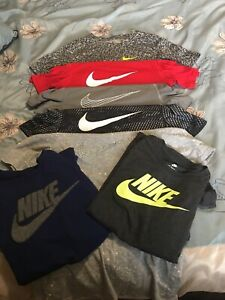 Huge Value Lot of 7 Boys NIKE Dri Fit Tee Shirts Sized large Excellent condition