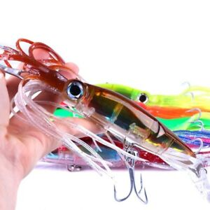 Octopus Trolling Baits Fishing Lure Hard Squid Skirts Trolling Bait With Hook