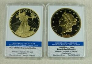 1833 & 1849 Double Eagle Archival Edition Replica Collection Proofs
