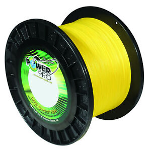 Power Pro Spectra Hi Vis Yellow Braided Line Strong High Visibility Fishing Line