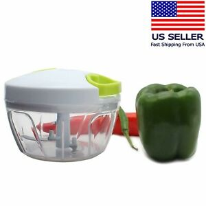 Arc Shaped Blade Manual Food Chopper Compact Hand Held Vegetable Dicer Mincer