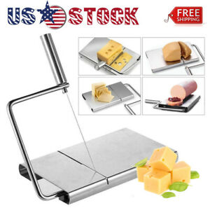 CHEESE SLICER BUTTER CUTTER BOARD KITCHEN HAND TOOL STAINLESS STEEL WITH 5 WIRE