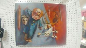 Bozo the clown  Oil Painting  on Canvas 20h