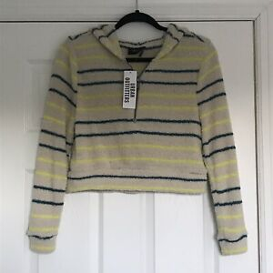 NWT Out From Under For Urban Outfitters Neutral Pullover With Stripes Size XS $36.00