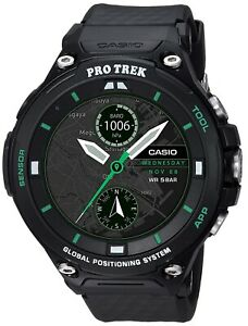 Casio Pro Trek Men's Android Wear Black 57mm Smart Outdoor Watch WSD-F20X-BKAAU