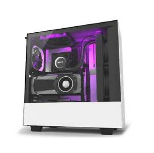 NZXT H500i No Power Supply ATX Mid Tower w Lighting & Fan Control (Matte White)