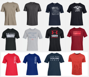 Under Armour T Shirts Mens Small to 2XL Authentic UA Short Sleeve Cotton Tees $23.99