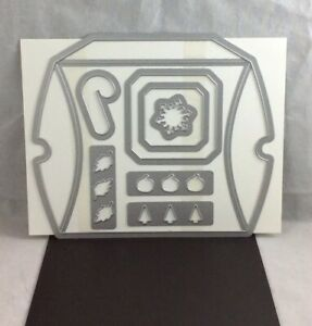 SQUARE PILLOW BOX THINLETS Stampin Up NEW Seasonal Candy Cane Snowflake Gift Box