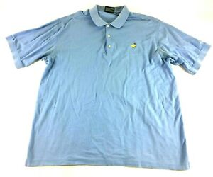Masters Collection 60s Two-Ply Mercerized Golf Mens Blue Polo Shirt Size XL