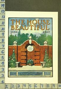 1907 ARCHITECTURAL HOME DECOR BRICK CONSTRUCTION DESIGN ILLUS STEARNS COV ZR92