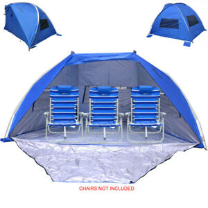 Jumbo Beach Shelter Beach Cabana Tent with Ventilation Panels and Door UPF 120