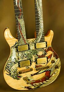 2005 PRS Dragon Double Neck Rare Natural Electric Guitar Paul Reed Smith