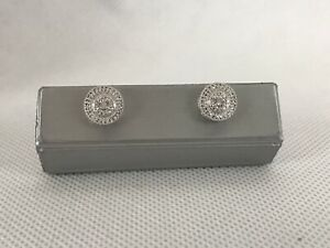 Zales Chic Diamond Halo Earrings $119 Retail New!