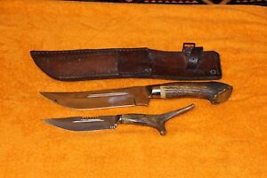 Vintange Set 2 pieces hunting knives + sheath