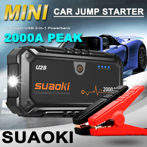 Suaoki 2000A Car Jump Starter Booster Charger Battery Power 12V Auto Rescue Bank