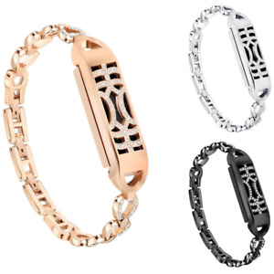 Fashion Metal Steel Replacement Band Bangle Rhinestone For Fitbit Flex 2 Design