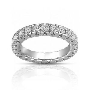 1.50 ct Round Cut Diamond Eternity Wedding Band Ring G Color SI-1 Clarity 14 kt