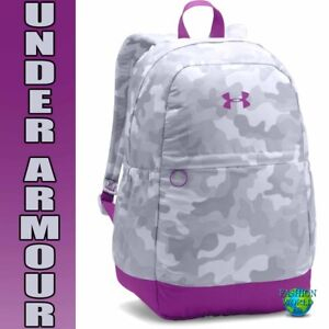 Under Armour Girls Favorite Backpack Laptop School Bag 1277402 GrayPurple