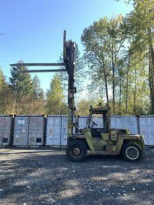 CLARK 18000 LBS CAPACITY FORKLIFT 16' LIFT FORKS 8' HYSTER TOYOTA PNEUMATIC