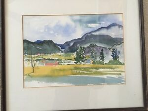 Beautiful signed original water color painting by Josephine Lutz Rollins