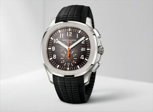 Patek Philippe 5968A Aquanaut Chronograph Stainless Steel Watch 42.2mm Grey Dial